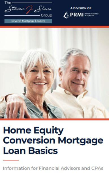 Home Equity Conversion Mortgage Loan Basics Booklet Cover